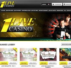 1live Casino est un casino avec croupiers en direct