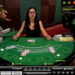 Blackjack en live