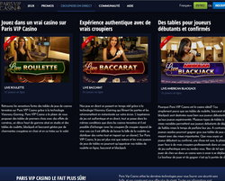 Paris VIP Casino: Specialiste du live casino