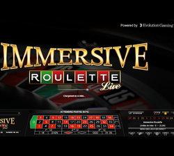 Roulette Immersive en ligne de Evolution Gaming
