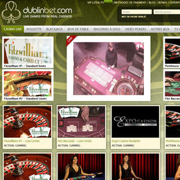 Dublinbet, le live casino aux 6 logiciels en direct