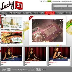 Lucky31, le casino en live francais