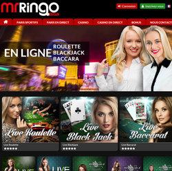 Mr Ringo, casino en live en francais