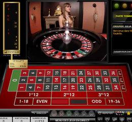 Capture d'ecran d'une roulette en ligne en studio