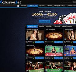 Exclusivebet Casino en live