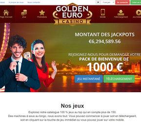 Golden Euro Casino : meilleur des casinos RTG