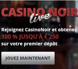 Casino Noir, casino en live Netent et Vivo Gaming