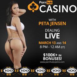 Peta Jensen sur Pornhub Casino