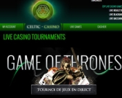 Tournoi roulette en ligne Celtic Casino Game of Thrones