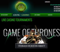 Tournoi roulette en ligne Celtic Casino Game of Thrones