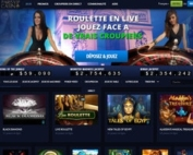 Jeux en live de Paris VIP Casino