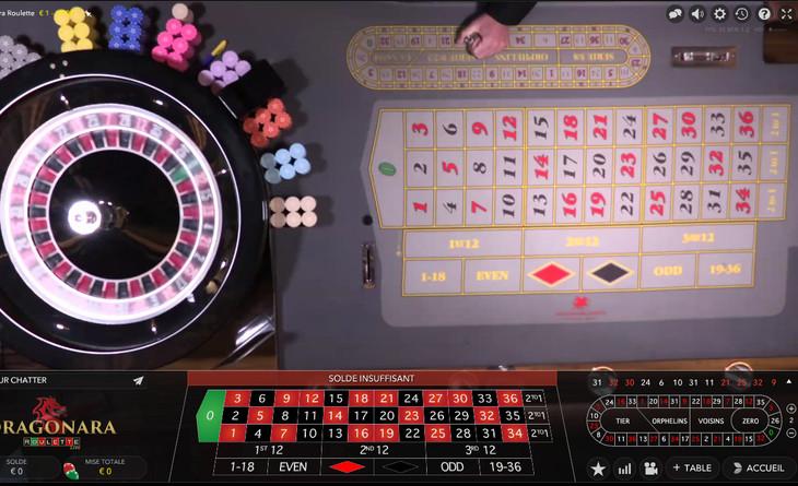 Capture d'ecran Dragonara Roulette