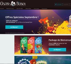Bonus Oscar Bianca Casino: Offre speciale Septembre 2016