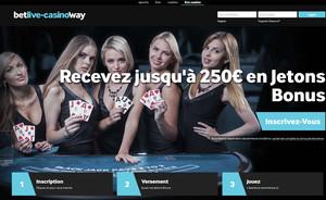Betway Casino sur Casino en Live