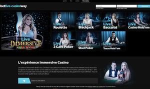 Betway Casino intègre Casino en Live