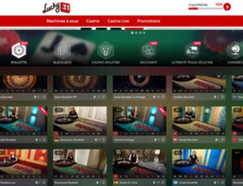 Nouvelles tables de live roulette sur Lucky31 Casino