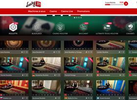 Live roulette sur Lucky31 Casino