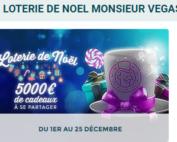 Loterie de Noël sur Monsieur Vegas