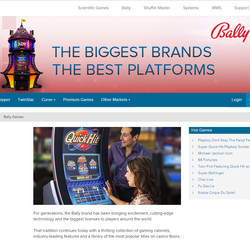 Bally Technologies: logiciel de jeux de casino