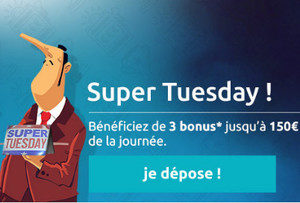 Bonus Super Tuesday de Oscar Bianca Casino