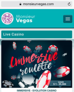 Monsieur Vegas Mobile
