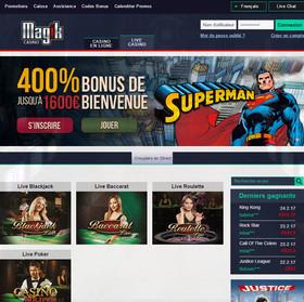 Magik Casino utilisant le logiciel Extreme Live Gaming