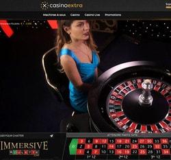 Casino Extra dispose de la Roulette Immersive