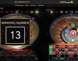 Roulette Double Wheel, une des 4 roulettes online Authentic Gaming du Casino Saint-Vincent