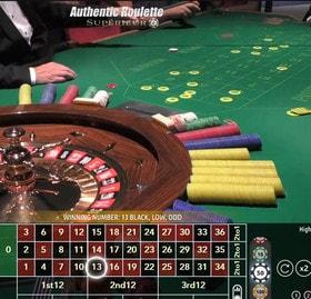 Roulette en ligne Superieur du casino Saint Vincent