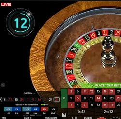 Roulette automatique Authentic Gaming : Auto Roulette Live 30s