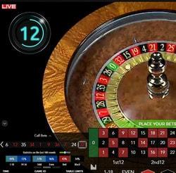 Roulette automatique Authentic Gaming : Auto Roulette Live 30s