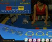 Table de live baccarat en direct du Queenco Casino