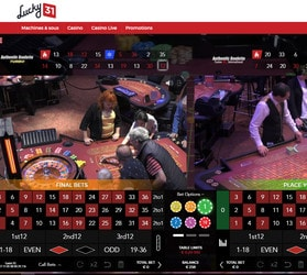 Duo Roulette Authentic Gaming disponible sur Lucky31 Casino