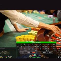 Roulette en live du Grand Casino de Bucarest en Roumanie