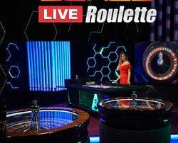 Blaze Roulette d'Authentic Gaming disponible sur Dublinbet avec effets lumineux a couper le souffle