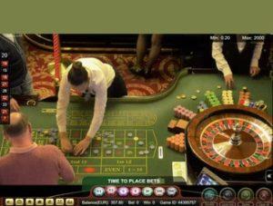 Live roulette filmée en direct du Palace Casino de Bucarest en Roumanie