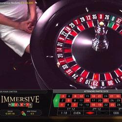 Le choix de Live Casino sur le Top 3 live casinos avec Immersive Roulette