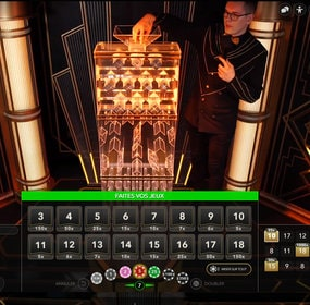 Lightning Dice, le jeu de dés en ligne en direct de studio