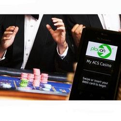 Guichet automatique PlayOn pour leurs jeux de table et slots