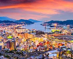 Vue de la ville de Nagasaki