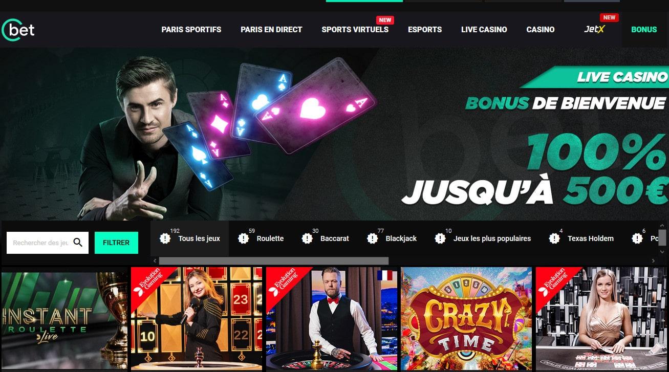 Revue et Avis Casino en Live Cbet