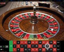 Roulette en live Kensington en direct du Forty Five Casino Kensington de Londres