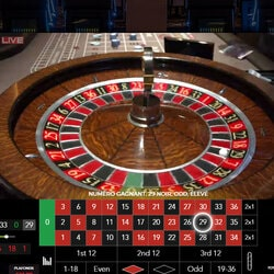 Roulette en live Kensington en direct du Forty Five Casino Kensington de Londres